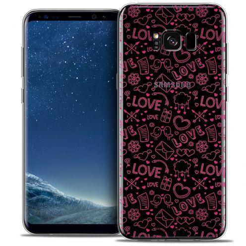 Carcasa Crystal Gel Extra Fina Samsung Galaxy S8+/ Plus (G955) Love Doodle