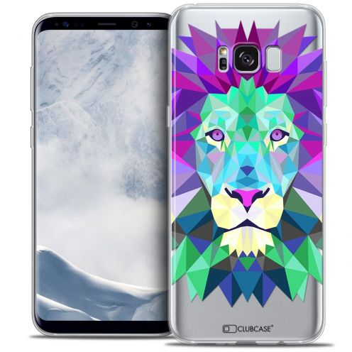 Coque Crystal Gel Samsung Galaxy S8+/ Plus (G955) Extra Fine Polygon Animals - Lion