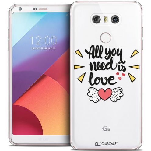 Carcasa Crystal Gel Extra Fina LG G6 Love All U Need Is