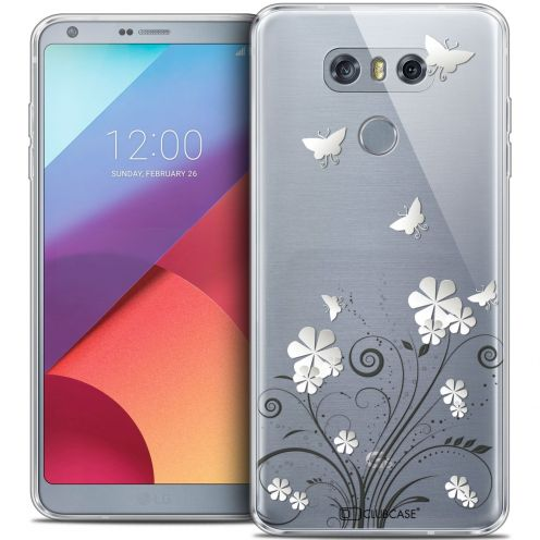 Coque Crystal Gel LG G6 Extra Fine Summer - Papillons