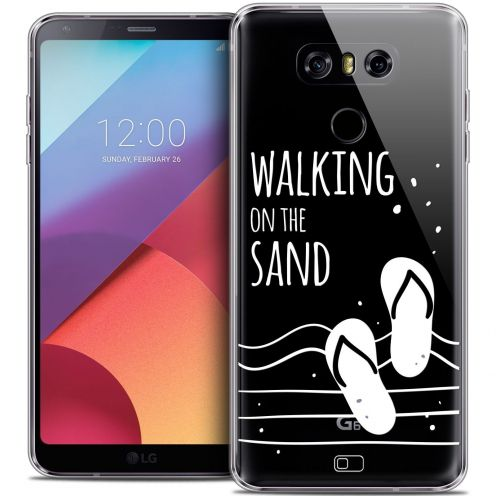 Coque Crystal Gel LG G6 Extra Fine Summer - Walking on the Sand