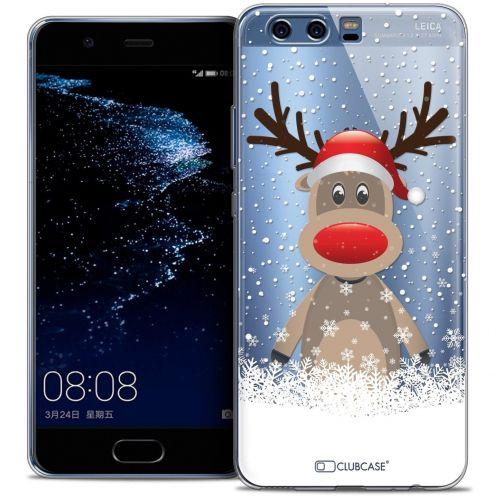 Coque Crystal Gel Huawei P10 Extra Fine Noël 2016 - Cerf au Bonnet
