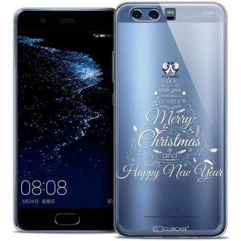 Coque Crystal Gel Huawei P10 Extra Fine Noël 2016 - Calligraphie