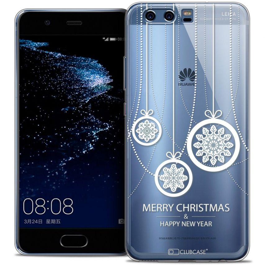 Coque Crystal Gel Huawei P10 Extra Fine Noël 2016 - Christmas Balls