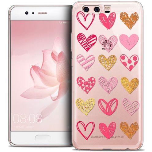 Carcasa Crystal Gel Extra Fina Huawei P10 Love Doodle