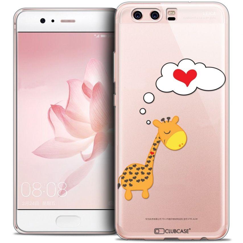 Coque Crystal Gel Huawei P10 Extra Fine Love - Girafe Amoureuse