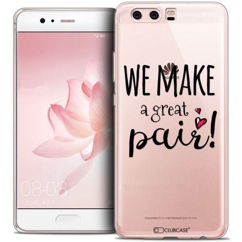 Carcasa Crystal Gel Extra Fina Huawei P10 Love We Make Great Pair