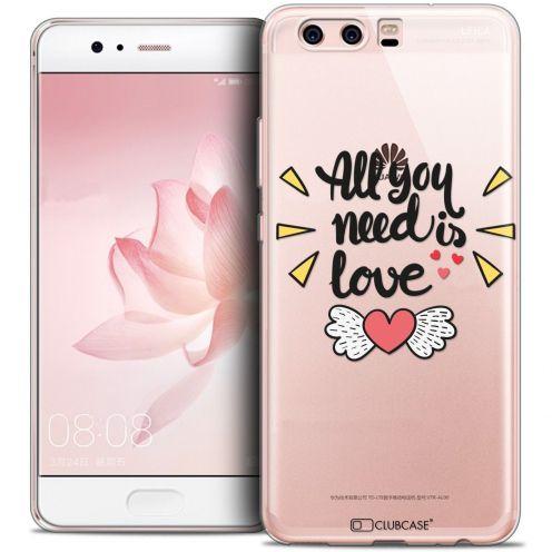 Carcasa Crystal Gel Extra Fina Huawei P10 Love All U Need Is