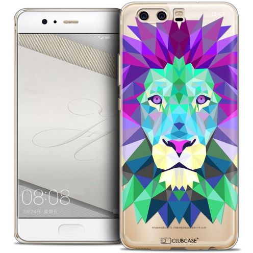 Coque Crystal Gel Huawei P10 Extra Fine Polygon Animals - Lion