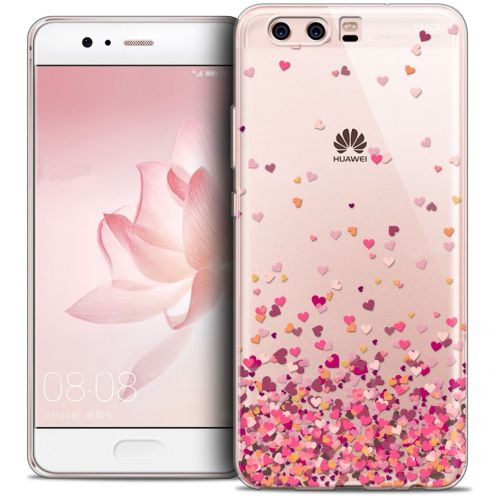 Coque Crystal Gel Huawei P10 Extra Fine Sweetie - Heart Flakes