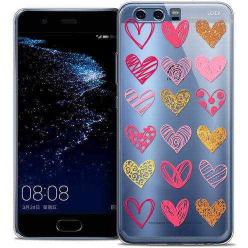 Coque Crystal Gel Huawei P10 Extra Fine Sweetie - Doodling Hearts
