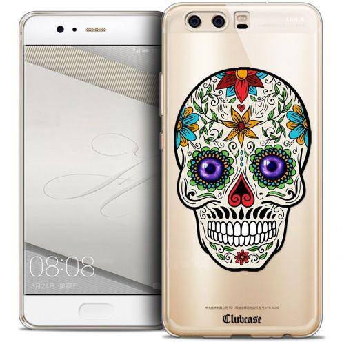 Coque Crystal Gel Huawei P10 Extra Fine Skull - Maria's Flower