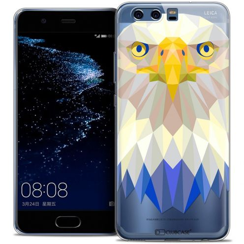 Coque Crystal Gel Huawei P10 Extra Fine Polygon Animals - Aigle