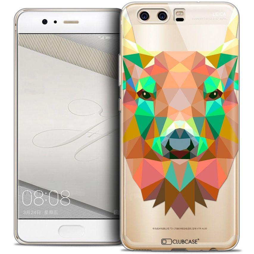 Coque Crystal Gel Huawei P10 Extra Fine Polygon Animals - Cerf