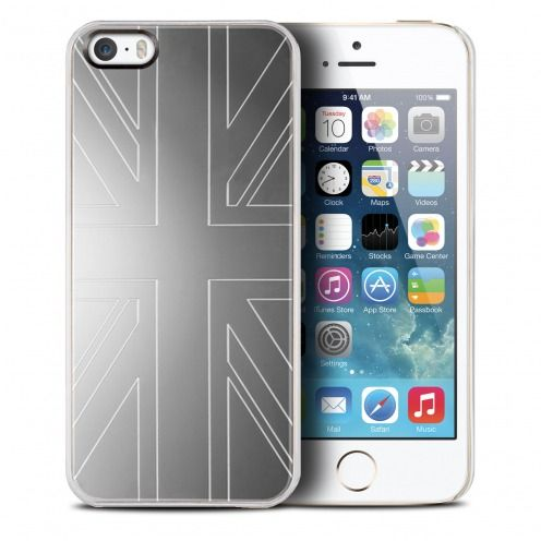 Carcasa Qdos® Smoothies Metallics Miror UK por iPhone 5/5S