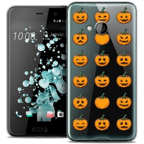 Coque Crystal Gel HTC U Play Extra Fine Halloween - Smiley Citrouille