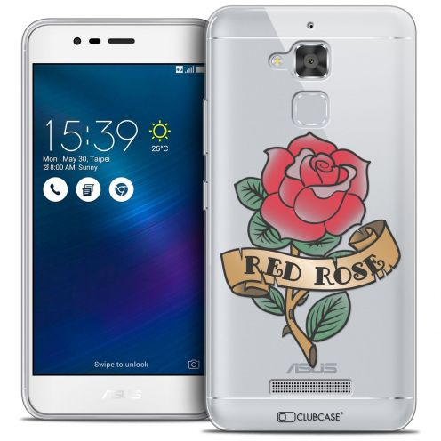 """Coque Crystal Gel Asus Zenfone 3 Max ZC520TL (5.2"""") Extra Fine Tatoo Lover - Red Rose"""