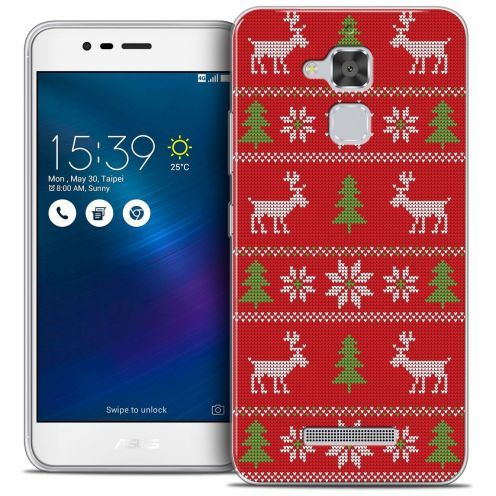 """Carcasa Crystal Gel Extra Fina Asus Zenfone 3 Max ZC520TL (5.2"""") Noël 2016 Couture Rouge"""