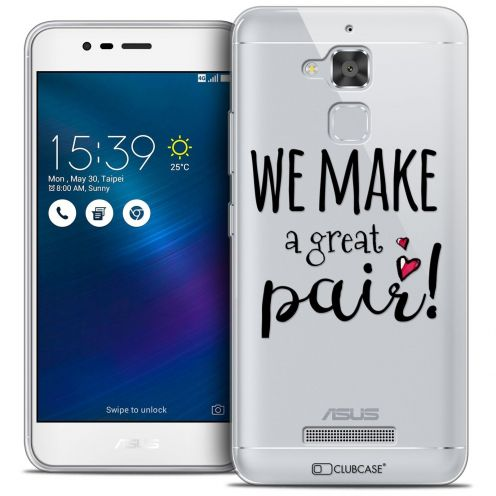 "Carcasa Crystal Gel Extra Fina Asus Zenfone 3 Max ZC520TL (5.2"") Love We Make Great Pair"