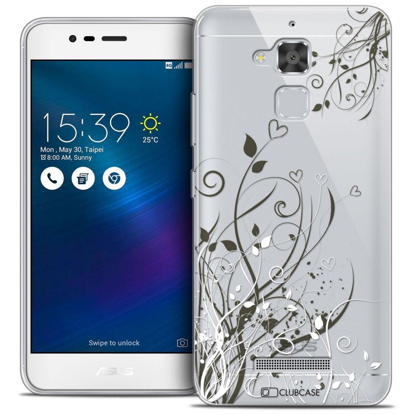 """Coque Crystal Gel Asus Zenfone 3 Max ZC520TL (5.2"""") Extra Fine Love - Hearts Flowers"""