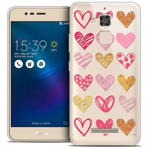 "Carcasa Crystal Gel Extra Fina Asus Zenfone 3 Max ZC520TL (5.2"") Sweetie Doodling Hearts"
