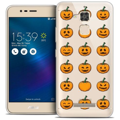 "Carcasa Crystal Gel Extra Fina Asus Zenfone 3 Max ZC520TL (5.2"") Halloween Smiley Citrouille"