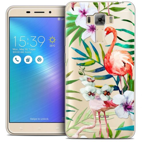 "Coque Crystal Gel Asus Zenfone 3 Laser ZC551KL (5.5"") Extra Fine Watercolor - Tropical Flamingo"